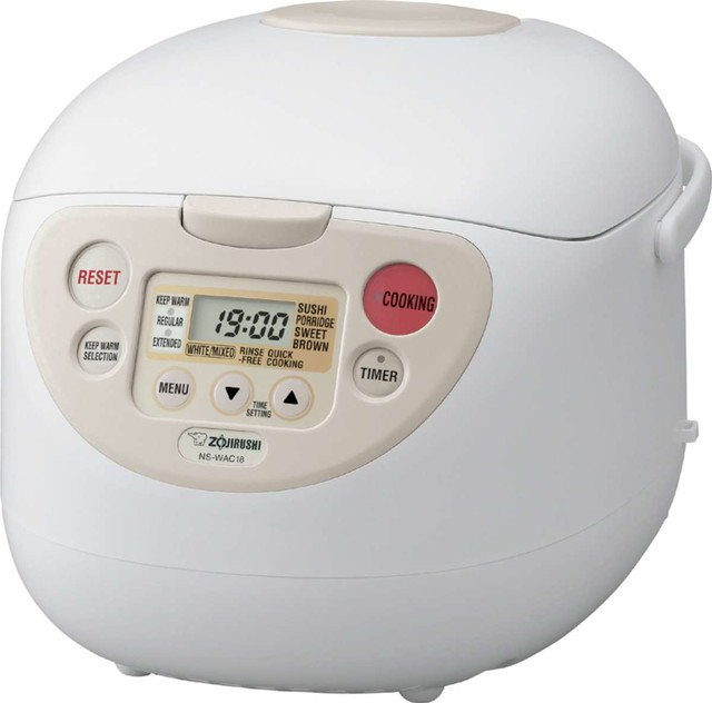 Zojirushi NS-WAC18 Micom Fuzzy-Logic Rice Cooker, 10 cup contemporary-specialty-small-kitchen-appliances
