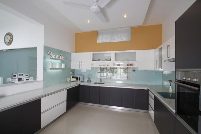 Mohan Residence modern-kitchen