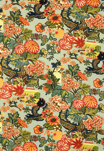 Chiang Mai Dragon asian fabric