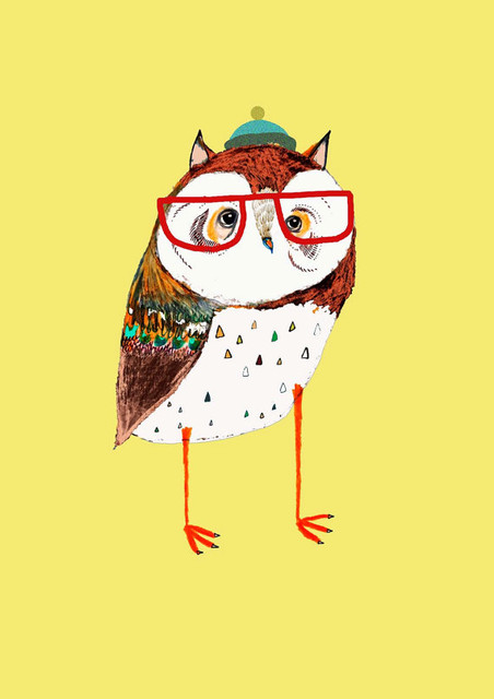 Fresh Owl Art Print By Ashley Percival contemporary-artwork
