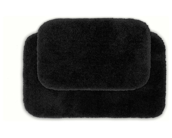 Sands Rug - Posh Plush Onyx Washable Bath Rug (Set of 2) - Revel in spa-like luxury every time you step into your bath with the Posh Plush collection of bath rugs. The amazingly soft, yet durable, nylon plush is machine washable, and each floor piece has a non-skid latex backing for safety.