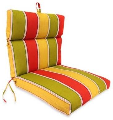 Jordan Outdoor Chair Cushion in Napa Stripe Salsa contemporary-outdoor-chairs