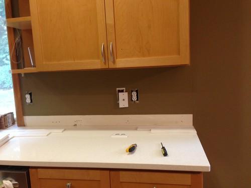how to finish open edge of kitchen tile backsplash