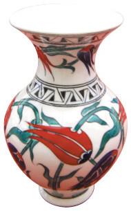 Handmade Ottoman Turkish Iznik Chini Vase