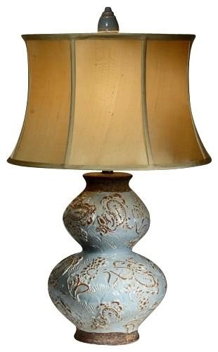 Natural Light Bombay Rebel Ceramic Table Lamp modern-table-lamps