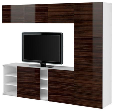 BESTÅ Storage combination w sliding door - Scandinavian - Entertainment Centers And Tv Stands ...