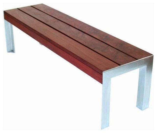 Modern Outdoor - 4' Etra Small Bench modern-outdoor-benches