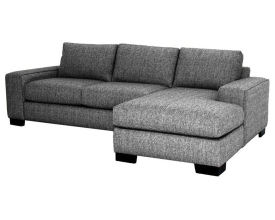 """Apt2B - Melrose 2-Piece Sectional Sofa With Chaise on Left, Smoke, 107""""x65""""x28"""" - You've got to love the flexibility a two-piece sectional provides. Combine the pieces for a chic space to spread out, or set each piece up separately for countless seating options. Either way, you'll be kicking back in comfort and style with this custom sofa."""