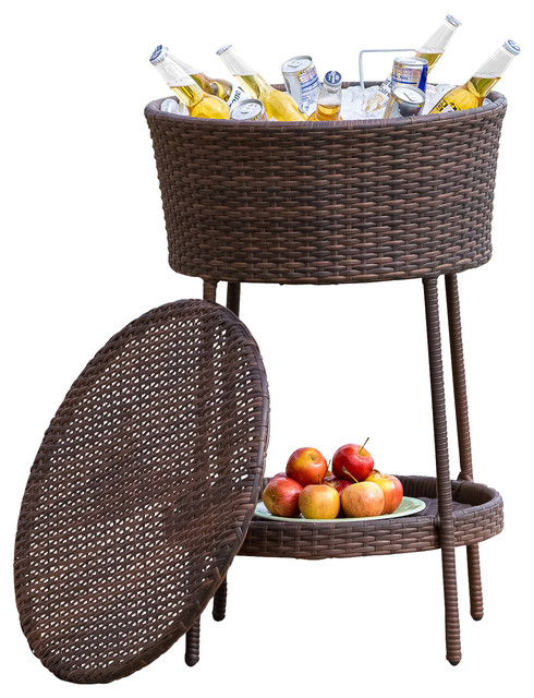 ... Bucket Beverage Cooler, Brown contemporary-wine-and-beer-refrigeration