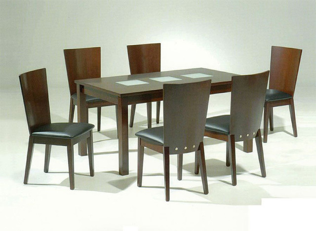 High End Rectangular Wooden And Frosted Gl Modern Dining Tables Miami