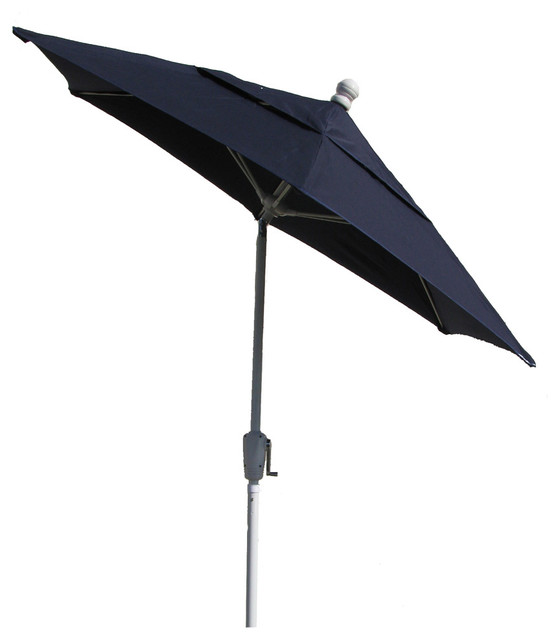 7 5 ft patio umbrella olefin white finish by fiberbuilt