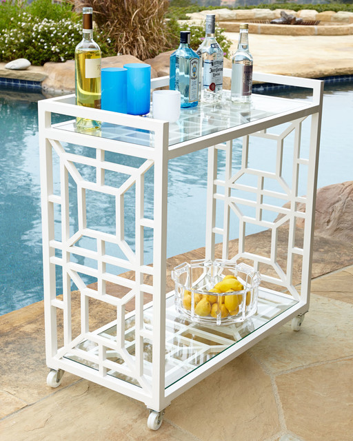 tasmin chinoiserie bar cart traditional outdoor