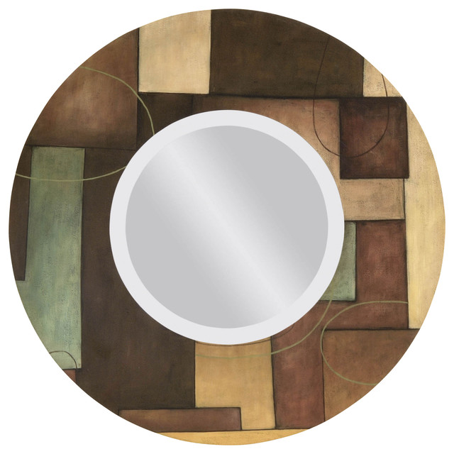 Light Sconces For Living Room Modern Round Wall Mirror - Modern - Mirrors - by Carolina ...