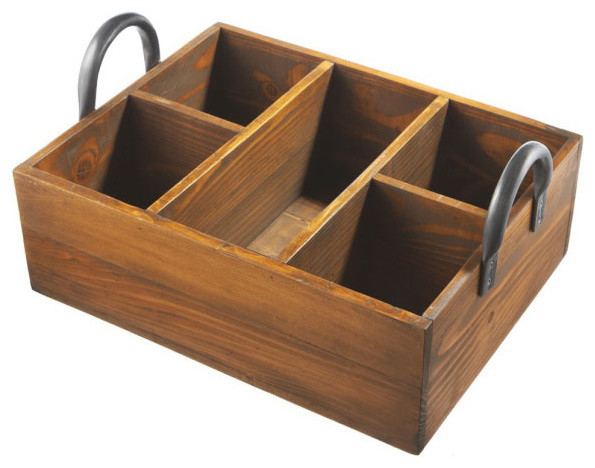 Divided Deep Wood Tray Rustic Serving Trays By Dot Amp Bo