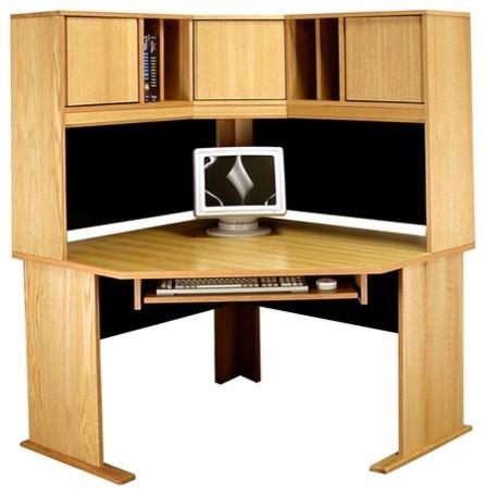 office modulars corner desk office suite with keyboard shelf modern home office accessories. Black Bedroom Furniture Sets. Home Design Ideas