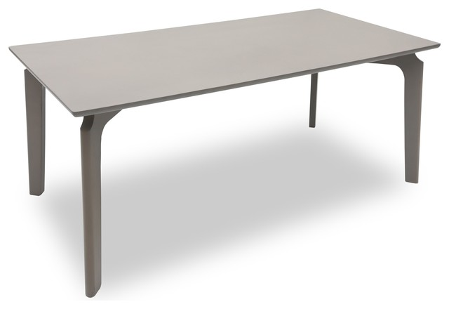 Slice granite wood dining table contemporary dining - Granite and wood dining table ...