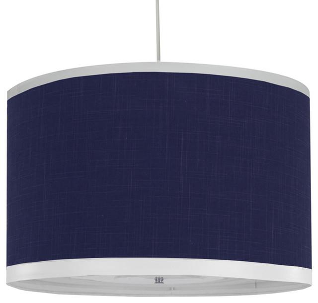Oilo - Solid Cobalt Large Cylinder Light modern-pendant-lighting