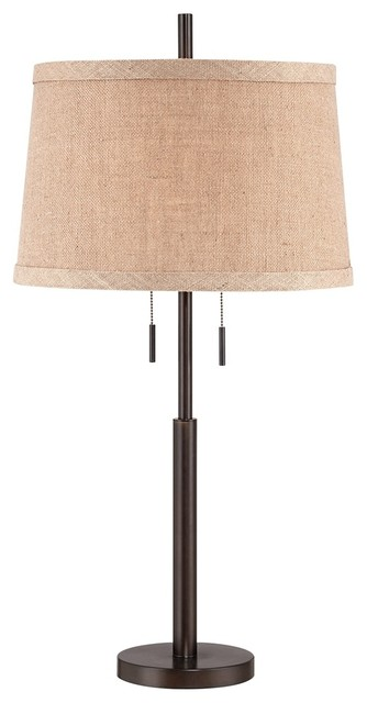 nila bronze double pull chain table lamp contemporary lamp shades. Black Bedroom Furniture Sets. Home Design Ideas