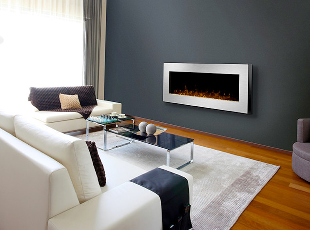 Dimplex 49-Inch Celebrity Linear Stainless Steel Wall Mount Electric Fireplace modern-indoor-fireplaces