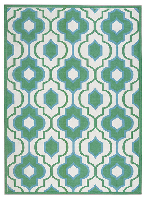 Kaleidoscope Outdoor Area Rug traditional-outdoor-pillows