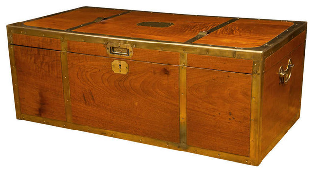 Antique Campaign Trunk - Modern - Side Tables And End Tables - new york - by MONTAGE Modern Home