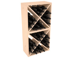48 Bottle Wine Cube Collection in Ponderosa Pine, (Unstained) contemporary-wine-racks