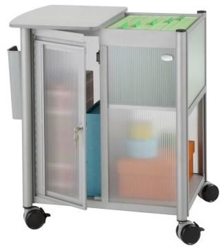 Safco 5378GR Impromptu Personal Mobile Storage Center with Hanging File modern-filing-cabinets