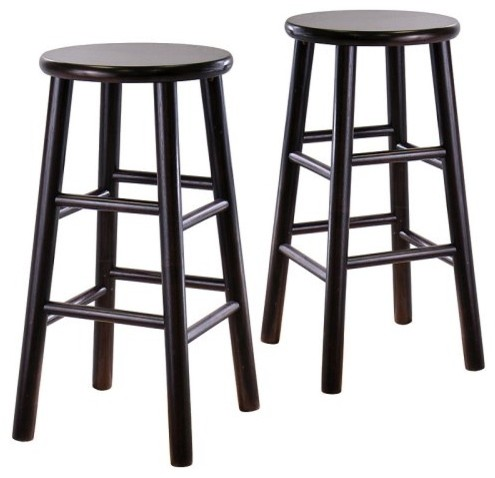 Winsome Wood 29-Inch Bar Stool - Espresso - Set of 2 modern-bar-stools-and-counter-stools