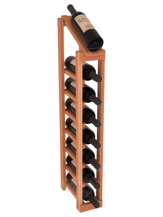Wine Racks America - 1 Column 8 Row Display Top Kit in Redwood - Make your best vintage the focal point of your cellar or store. The slim design is a perfect fit for almost any space. Our wine cellar kits are constructed to industry-leading standards. You'll be satisfied. We guarantee it. Display top wine racks are perfect for commercial or residential environments.