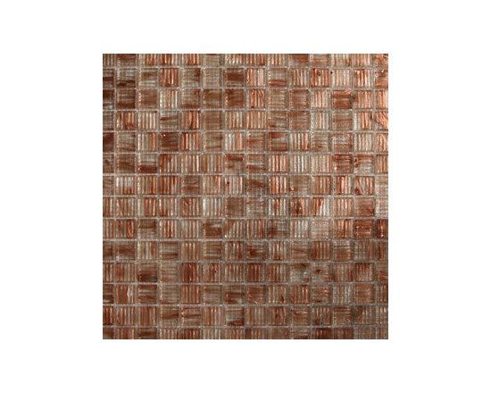 Copper Clear Glass Mosaics -