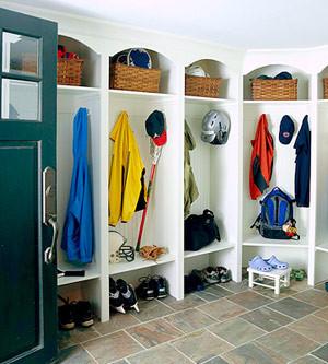 Mudroom Ideas: Locker Room