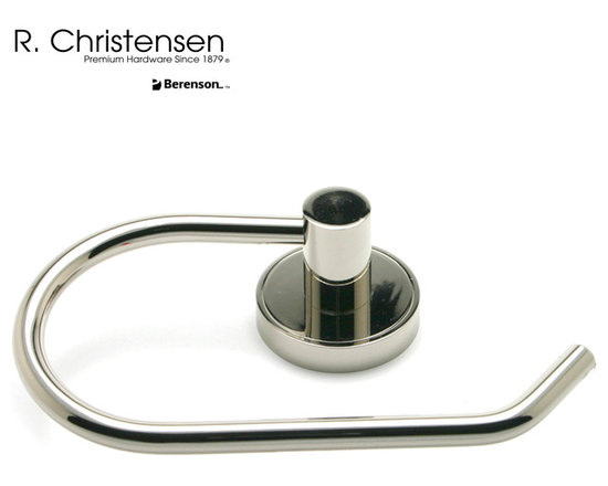 2219US14 Polished Nickel Single-Arm Tissue Holder by R. Christensen - 7-1/16 inch wide contemporary style single-arm tissue holder by R. Christensen in Polished Nickel.