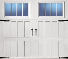 ReliaBilt 8-ft x 7-ft 900 Series Insulated White Garage Door with Windows