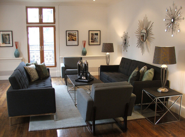 Staging: West 74th Street, NYC contemporary-living-room