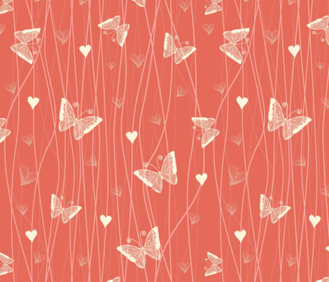 Coral color wallpaper peel and stick wallpaper coral in an instant source my favorite wallpapers