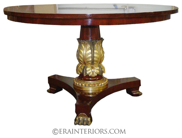 Regency Round Dining Table with Claw Feet & Gold Leaf ...