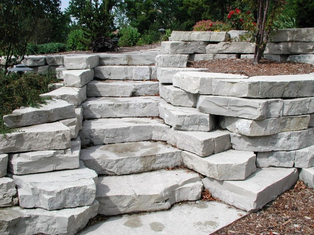 Fond Du Lac Outcropping Steps Traditional Outdoor Products Milwaukee By High Prairie