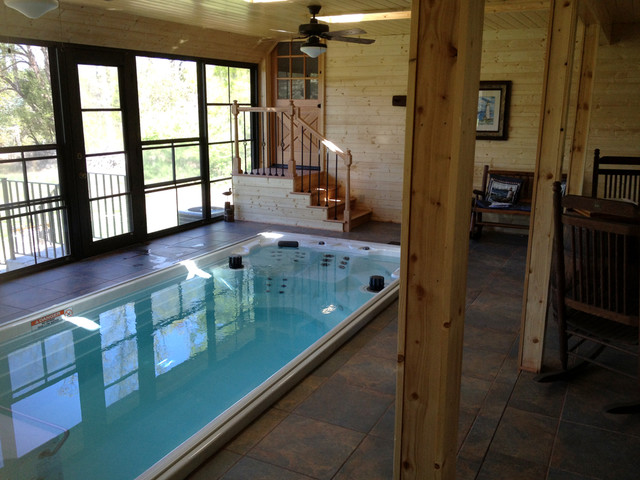 17 39 Endless Pool Swim Spa Rustic Hot Tub And Pool