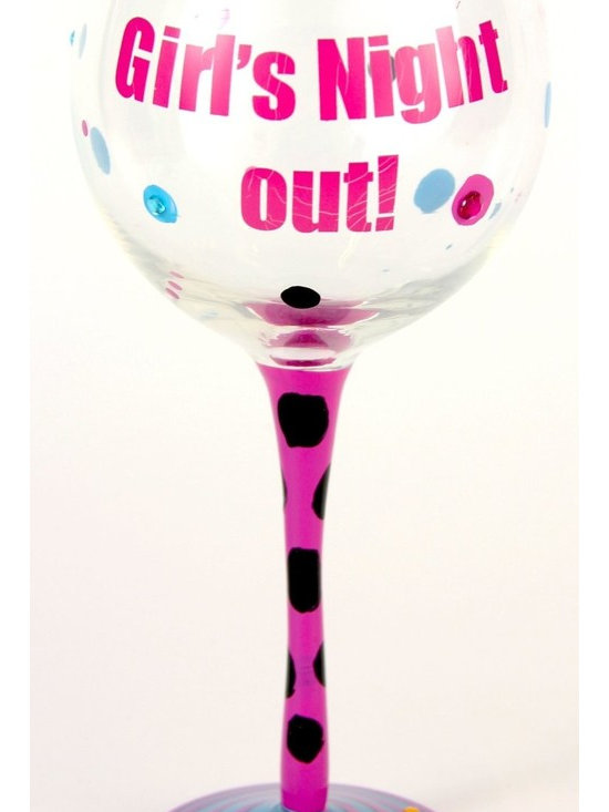Hand Painted Girls Gotta LIve! Wine Glass, Holds 18 Oz - In A Gift Box - Hand Painted Wine Glasses are perfect for a birthday party, holiday, graduation, or a festive gathering with friends.