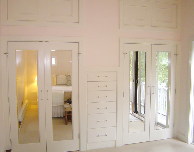 built in bedroom storage transitional closet