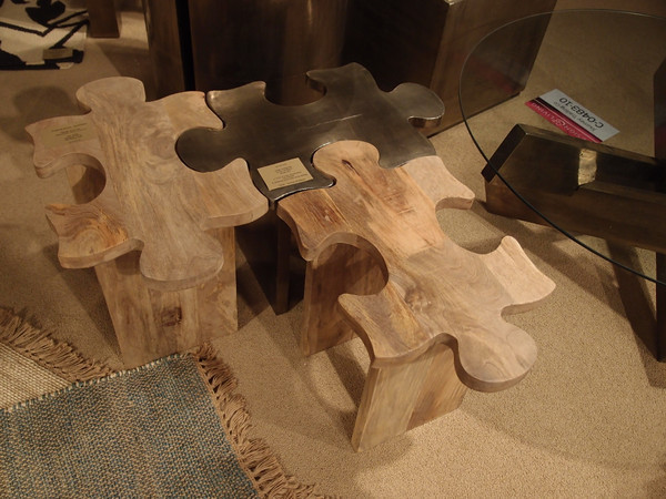 Puzzle Stools eclectic-side-tables-and-end-tables
