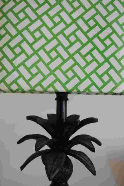 vintage manuel canovas lampshades eclectic-bedroom