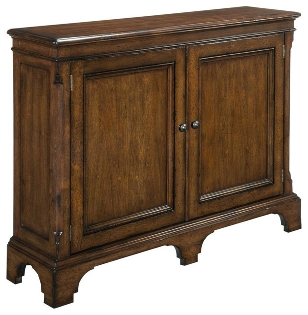New Narrow Hall Cabinet Solid Wood Cherry traditional-storage-cabinets