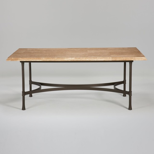 biscayne rectangular dining table with light marble top  : traditional dining tables from www.houzz.com size 640 x 640 jpeg 31kB