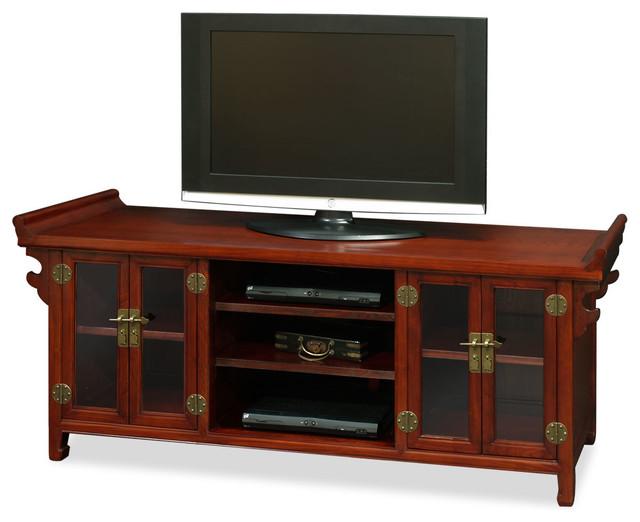 Elmwood Altar Style Media Cabinet - Asian - Entertainment ...