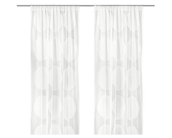 IKEA of Sweden - Ninni Tråd Sheer Curtains - We could die over these dotted sheer curtains!