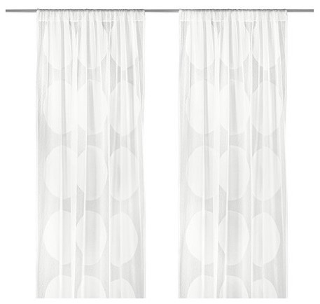 Ninni Tr D Sheer Curtains Scandinavian Curtains By Ikea