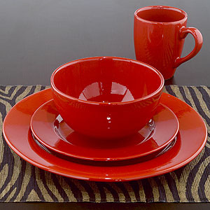 Rosso Ceramic Dinnerware Sets of 4 modern-dinnerware