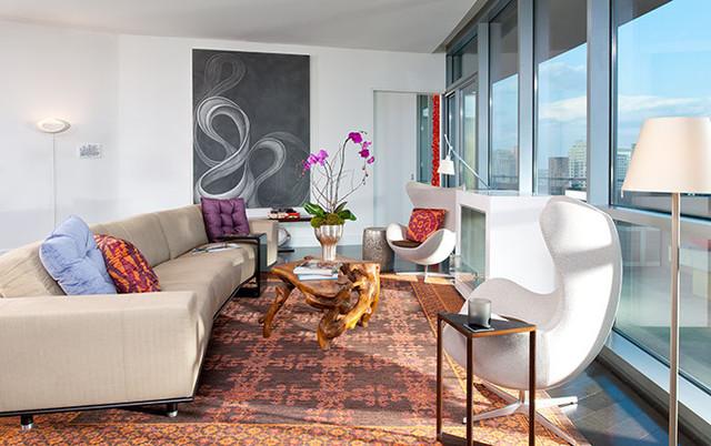 City Living High-Rise Condo modern-living-room