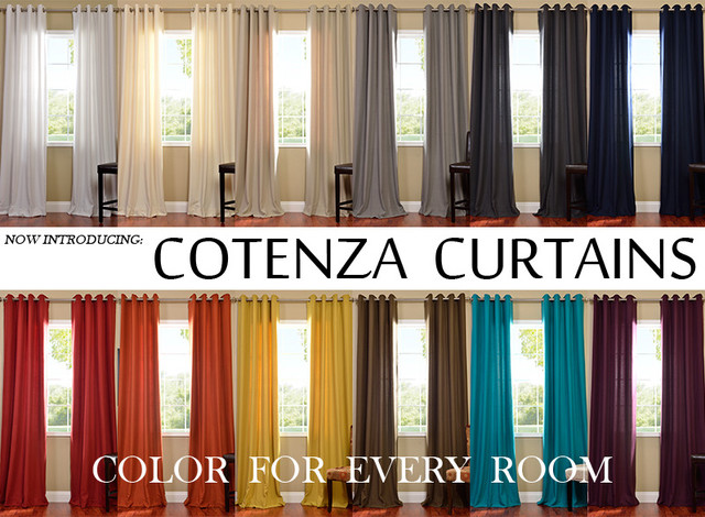 Cotenza Cotton Like Curtains - Modern - Curtains - by Half Price ...
